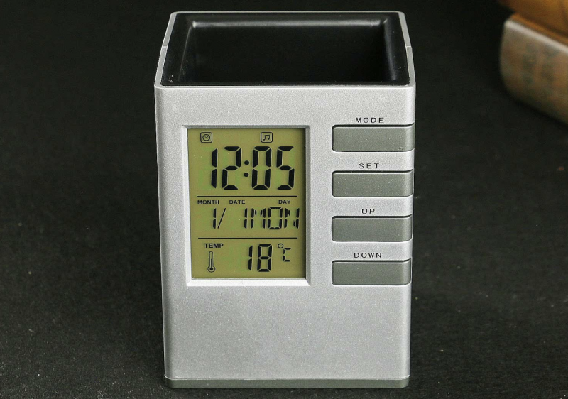 5 Desk Clocks Perfect For Your Office, Oct17 Wooden Alarm Clock Manual