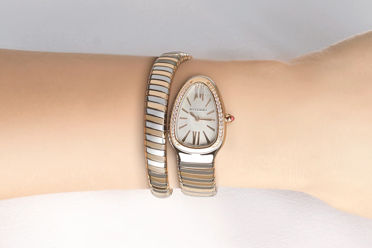Bvlgari Serpenti Wedding Watches for the Bride and Groom