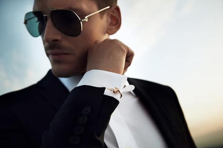 Luxury Cufflinks with Watches Cartier