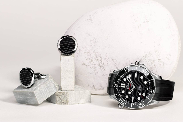 Luxury Cufflinks with Watches Omega