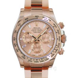Rolex Cosmograph Daytona 116505A/Pink with Baguette