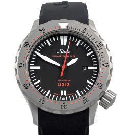 Sinn Diving Watches 212.040-Silicone-LFC-Blk