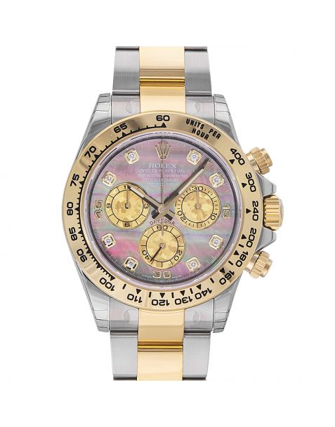 baad0f79e4a Cosmograph Daytona Stainless Steel   Yellow Gold   Black MOP Diamond. Rolex