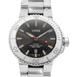 Aquis Date Relief Automatic Grey Dial Men's Watch