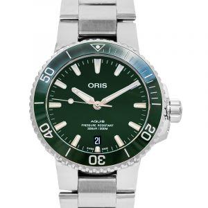 Aquis Date Automatic Green Dial Men's Watch