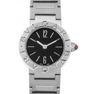 Bvlgari Quartz Black Dial Ladies Watch