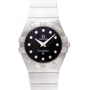 Constellation Quartz 27mm Quartz Black Dial Diamonds Ladies Watch