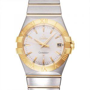 Constellation Quartz 35mm Quartz Silver Dial Yellow Gold Ladies Watch