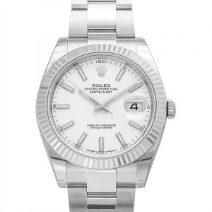 Datejust 41 Stainless Steel Fluted / Oyster / White