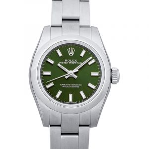 Oyster Perpetual 26 Steel Automatic Green Dial Ladies Watch