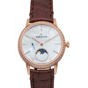 Elite Lady Moonphase Automatic Mother of pearl Dial Diamond Bezel Ladies Watch