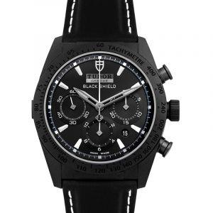 Fastrider Black Shield Chronograph Ceramic Automatic Black Dial Men's Watch