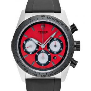 Fastrider Chrono Stainless Steel Automatic Red Dial Men's Watch