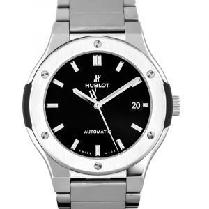Classic Fusion Titanium Bracelet Automatic Black Dial Men's Watch