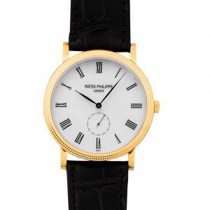 Calatrava White Dial Men's Watch
