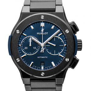 Classic Fusion Chronograph Ceramic Blue Bracelet Automatic Blue Dial Men's Watch