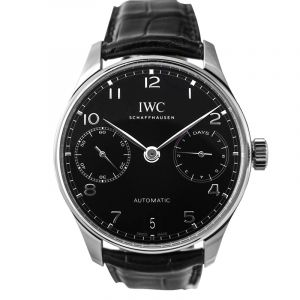 Portugieser Automatic Black Dial Men's Watch