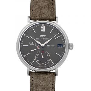 Portofino Hand-Wound Eight Days Manual-winding Grey Dial Men's Watch