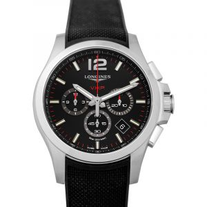 Conquest VHP Quartz Black Dial Men's Watch