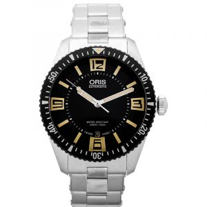 Divers Sixty-Five Automatic Black Dial Men's Watch