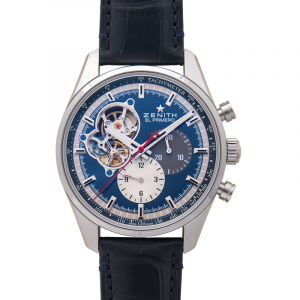 El Primero Chronomaster Open Stainless Steel / Blue 1969 / Alligator