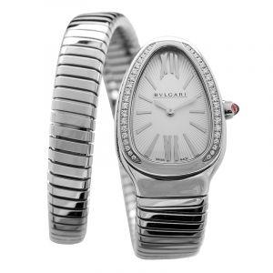 BVLGARI Serpenti Diamond Silver Dial Ladies Watch /35MM