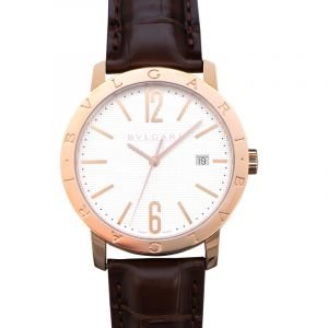 Bvlgari Automatic White Dial Men's Watch