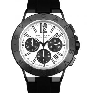 Bvlgari Chronograph Automatic White Dial Men's Watch