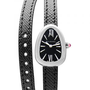 Bvlgari Serpenti Black Dial Ladies Double Wrap Leather Watch 102782
