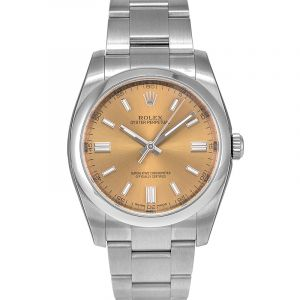 Rolex Oyster Perpetual 36 mm White Grape Dial Stainless Steel Bracelet Automatic Men's Watch 116000WGSO