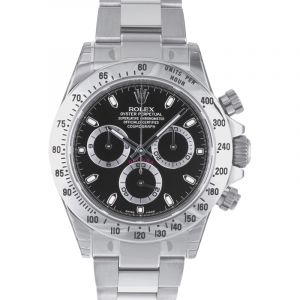 Cosmograph Daytona Stainless Steel Automatic Black Dial Men's Watch