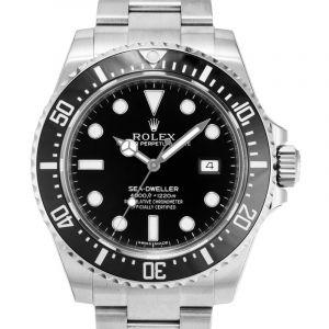 Sea-Dweller Steel Automatic Black Dial Men's Watch