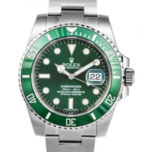 Rolex Submariner Green Dial Steel Men's Watch 116610LV