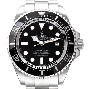 Rolex Deepsea Black Dial Stainless Steel Oyster Bracelet Automatic Men's Watch 116660BKSO