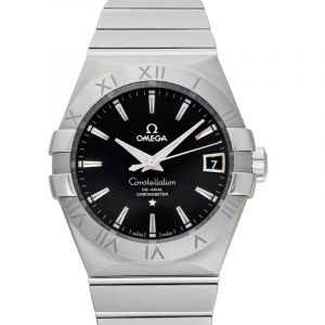 Constellation Co-Axial 38 mm Automatic Black Dial Steel Men's Watch
