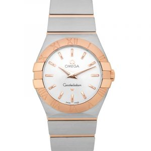 Constellation Brushed Quartz Silver Dial Ladies Watch