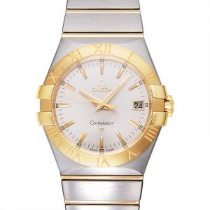 Constellation Quartz 35 mm Quartz Silver Dial Yellow Gold Ladies Watch