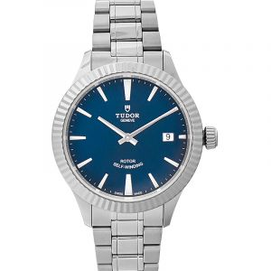 Style Automatic Blue Dial Stainless Steel Men's Watch