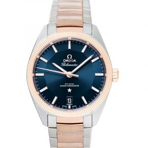 Constellation Globemaster Co-Axial Master Chronometer 39 mm Automatic Blue Dial Gold Men's Watch