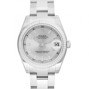 Datejust 31 Stainless Steel Fluted / Oyster / Silver