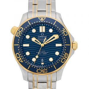 Seamaster Diver 300 M Co-Axial Master Chronometer 42 mm Automatic Blue Dial Yellow Gold Men's Watch