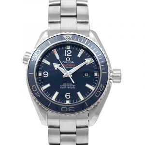 Seamaster Planet Ocean 600M Co‑Axial 37.5 mm Blue Dial Titanium Men's Watch