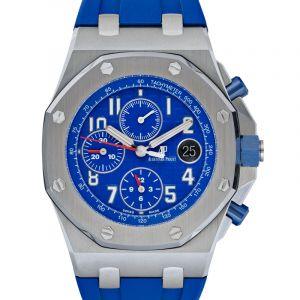 Royal Oak Offshore Chronograph Blue Steel/Leather 42mm