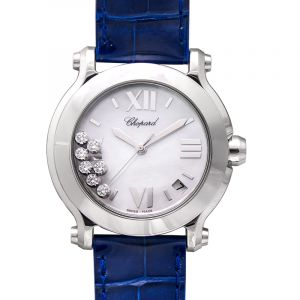 Happy Sport II Round Mother of Pearl Dial Diamonds Ladies Watch