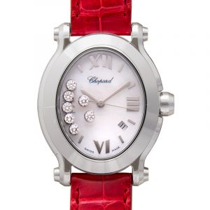 Happy Sport Oval Quartz Mother of pearl Dial Diamonds Ladies Watch