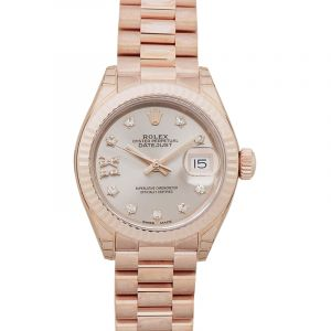Lady-Datejust 28 Oyster 18k Everose Gold Dia 28mm
