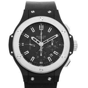 HUBLOT Black Dial Rubber Automatic Men's Watch 44mm