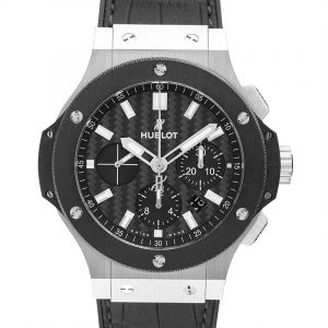 Big Bang Steel Ceramic Black Steel/Rubber-Leather 44mm