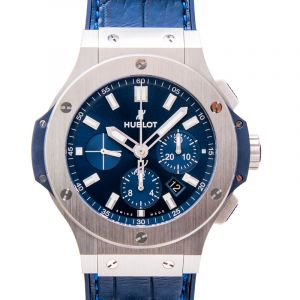 Big Bang Steel Blue Steel/Rubber Leather 44mm