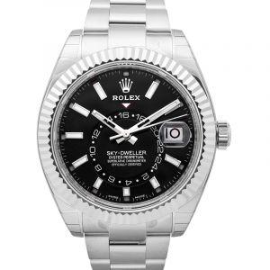 Sky Dweller Black Dial 18K White Gold Oyster Bracelet Automatic Men's Watch 326939BKAO